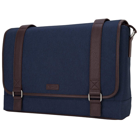 "TARGUS TBM56702AU, 15.6"" CITY FUSION II MESSENGER BAG - BLUE/BROWN"