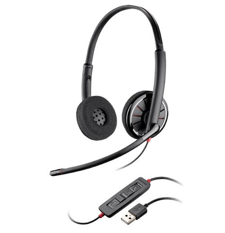 PLANTRONICS BLACKWIRE C320 BINAURAL UC USB HEADSET W/INLINE CONTROLS
