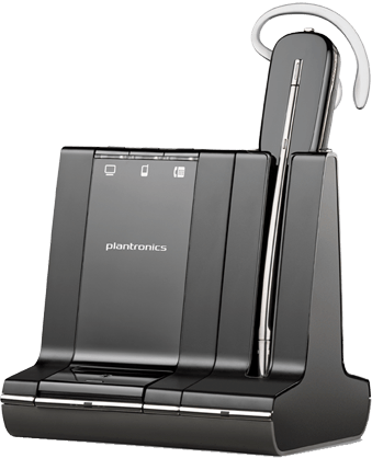 PLANTRONICS SAVI W745 CONVERTIBLE WIRELESS UC DECT SYSTEM W/HOTSWAP BATTERY BAY