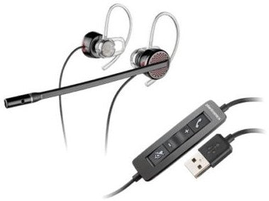 PLANTRONICS BLACKWIRE C435-M STEREO EAR-BUD UC USB HEADSET W/TRAVEL CASE