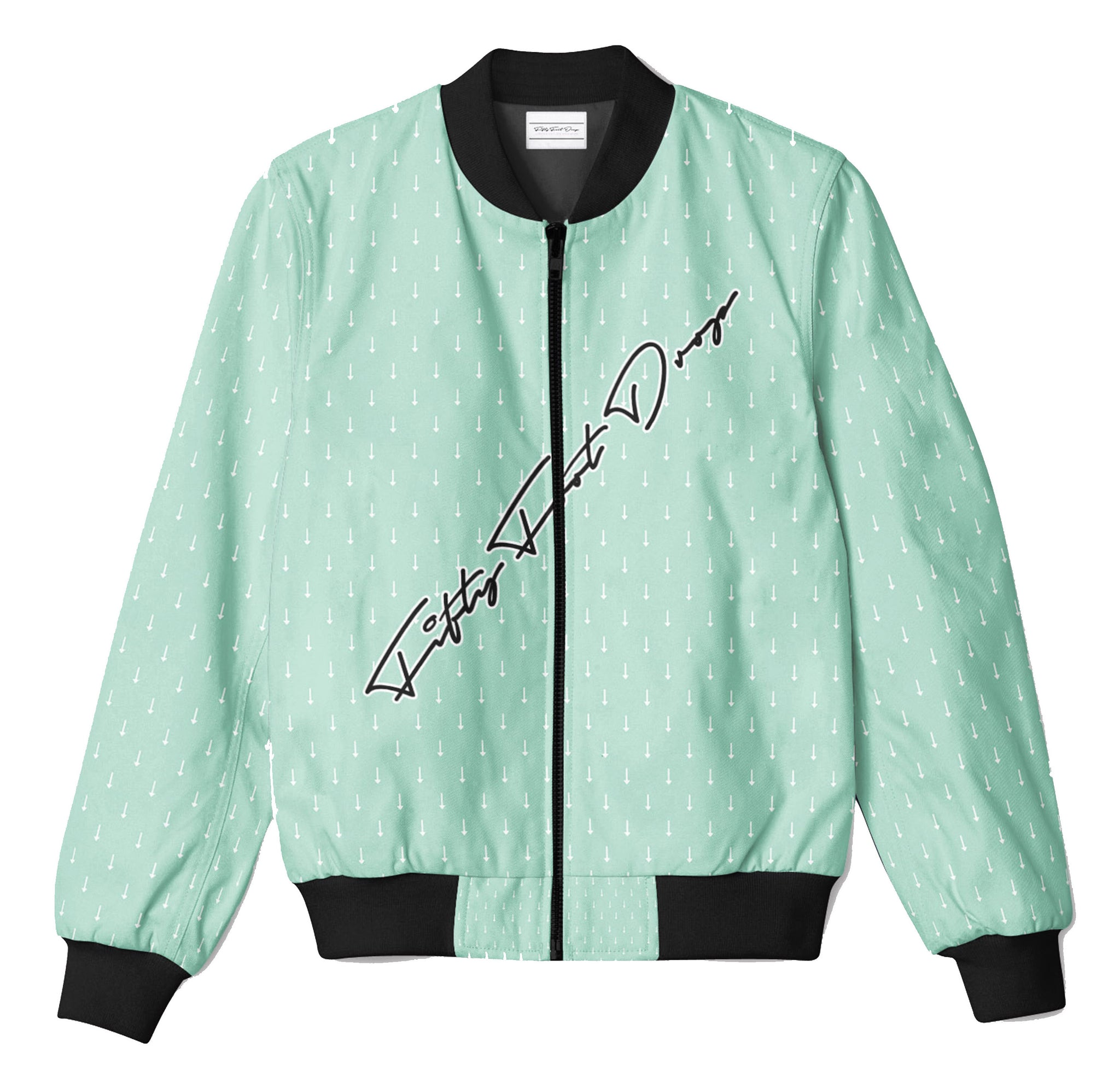MINT ARROW - FIFTY FOOT DROP - BOMBER JACKET  Fifty Foot Drop  fresh-on-road.myshopify.com Fifty Foot Drop