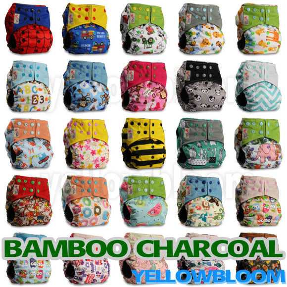 BAMBOO CHARCOAL Washable Baby Reusable Diaper - AmazinTrends.com