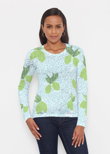 Limes Aqua (10179) ~ Signature Long Sleeve Crew Shirt