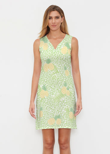 Pineapple Lime (10180) ~ Classic Sleeveless Dress