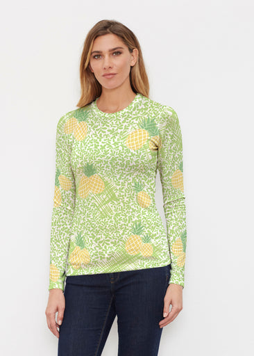 Pineapple Lime (10180) ~ Butterknit Long Sleeve Crew Top