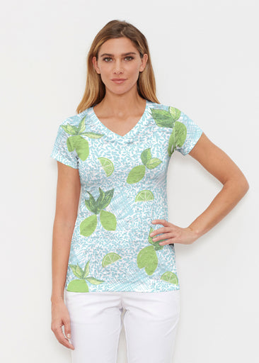 Margarita Lime (10181) ~ Signature Cap Sleeve V-Neck Shirt
