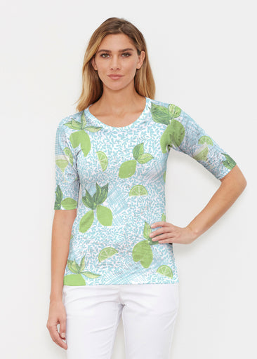 Margarita Lime (10181) ~ Elbow Sleeve Crew Shirt