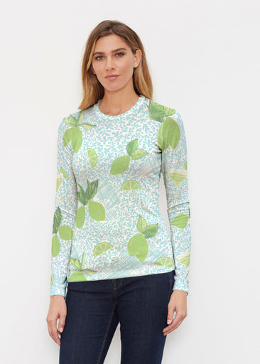 Margarita Lime (10181) ~ Butterknit Long Sleeve Crew Top