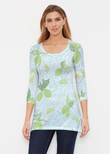 Margarita Lime (10181) ~ Buttersoft 3/4 Sleeve Tunic