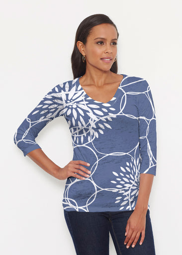 Reflection Navy (11040) ~ Signature 3/4 V-Neck Shirt