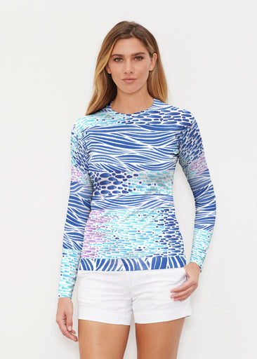 Tidal Stripe (11080) ~ Long Sleeve Rash Guard