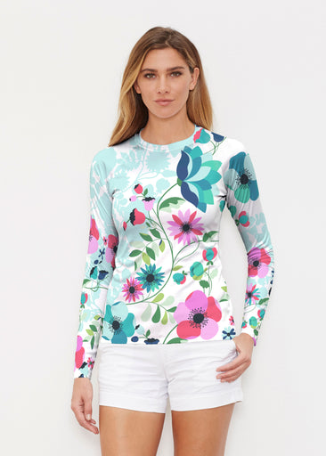 Floral Vines (13420) ~ Long Sleeve Rash Guard