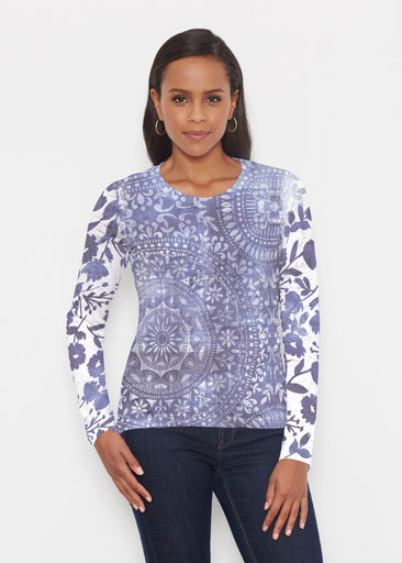 Medallion Flower (13453) ~ Signature Long Sleeve Crew Shirt