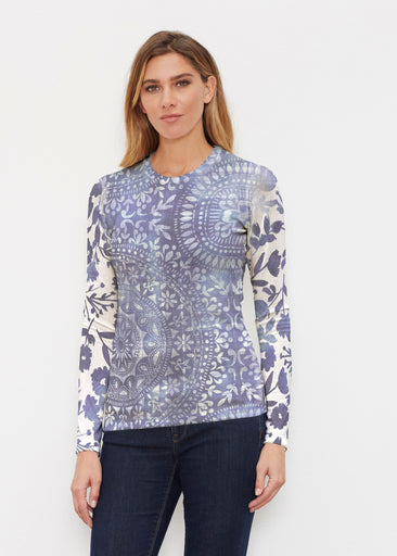 Medallion Flower (13453) ~ Butterknit Long Sleeve Crew Top