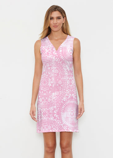 Dual Medallion Pink (13461) ~ Classic Sleeveless Dress