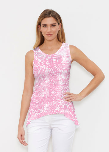 Dual Medallion Pink (13461) ~ High-low Tank
