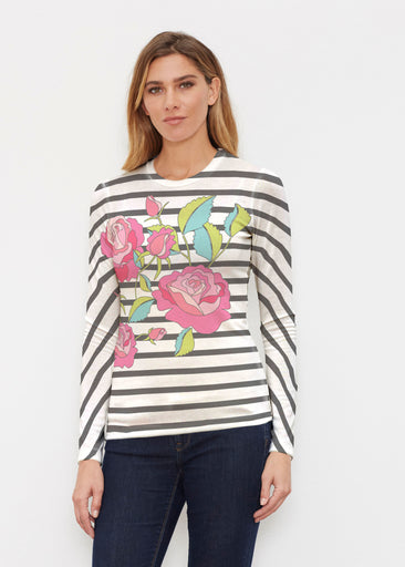Rosie Stripe (14226) ~ Butterknit Long Sleeve Crew Top