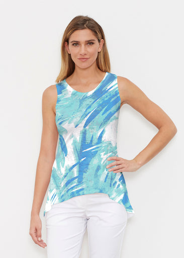 Brush Strokes Aqua (17185) ~ High-low Tank