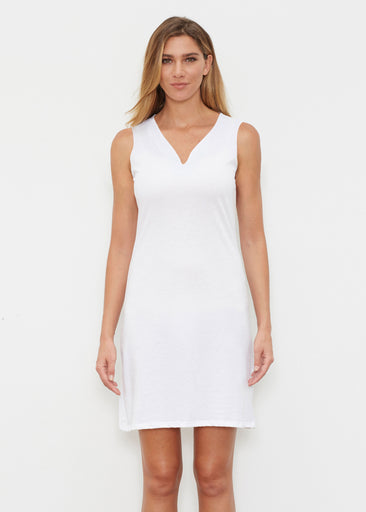 Natural White (5555) ~ Classic Sleeveless Dress