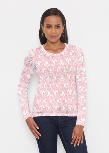 Dottie Coral (7699) ~ Signature Long Sleeve Crew Shirt