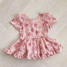 vintage pink bouquet dress 2t