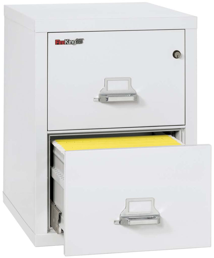 "FireKing 2-2125-C Two Drawer 25"" Deep Vertical Legal Size File Cabinet"