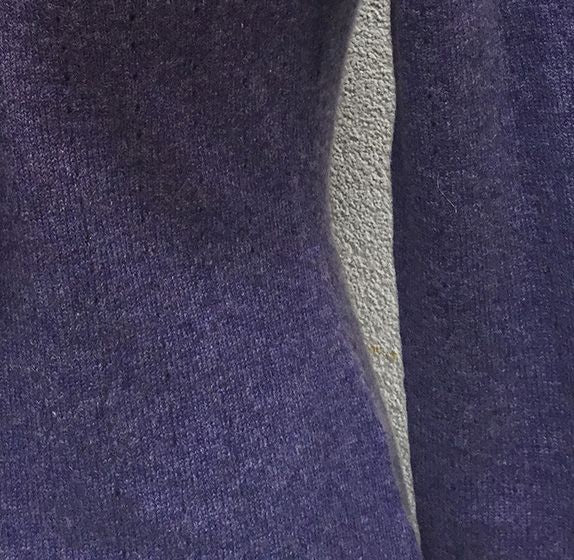 One sleeve Cashmere poncho in Heather