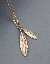 Lovey Dual Feather Pendant