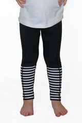 Black with Stripes - Pocket Pant - Kids