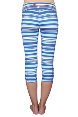 Blue Stripe - Pocket Capri