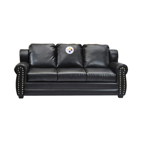Imperial Pittsburgh Steelers Coach Leather Sofa