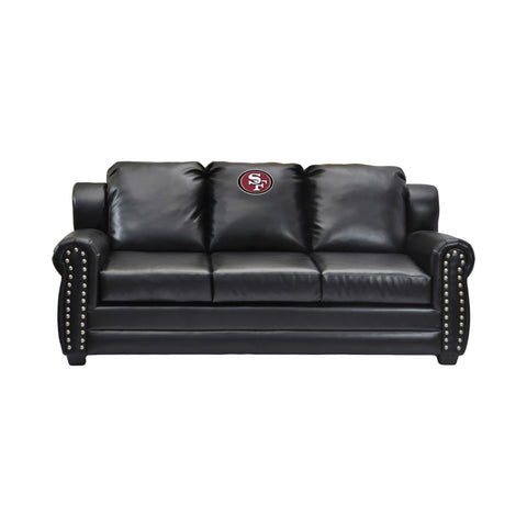 Imperial San Francisco 49ers Coach Leather Sofa
