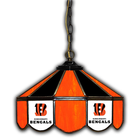 Imperial Cincinnati Bengals 14-in. Stained Glass Pub Light