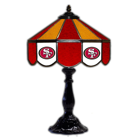 "Imperial San Francisco 49ers 21"" Glass Table Lamp"