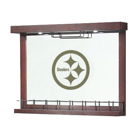 Imperial Pittsburgh Steelers Mirrored Wall Bar