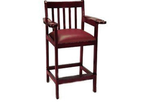 Berner Billiards Spectator Chair in Mahogany