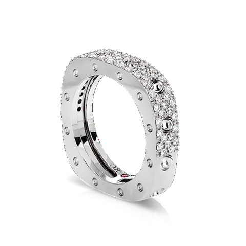 Pois Moi White Gold Single Ring with Diamonds