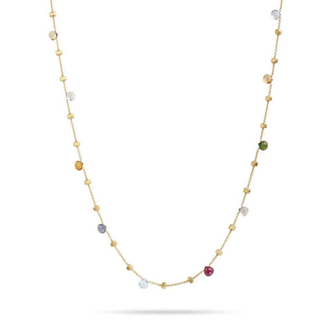 Paradise Yellow Gold & Mixed Stone Short Necklace