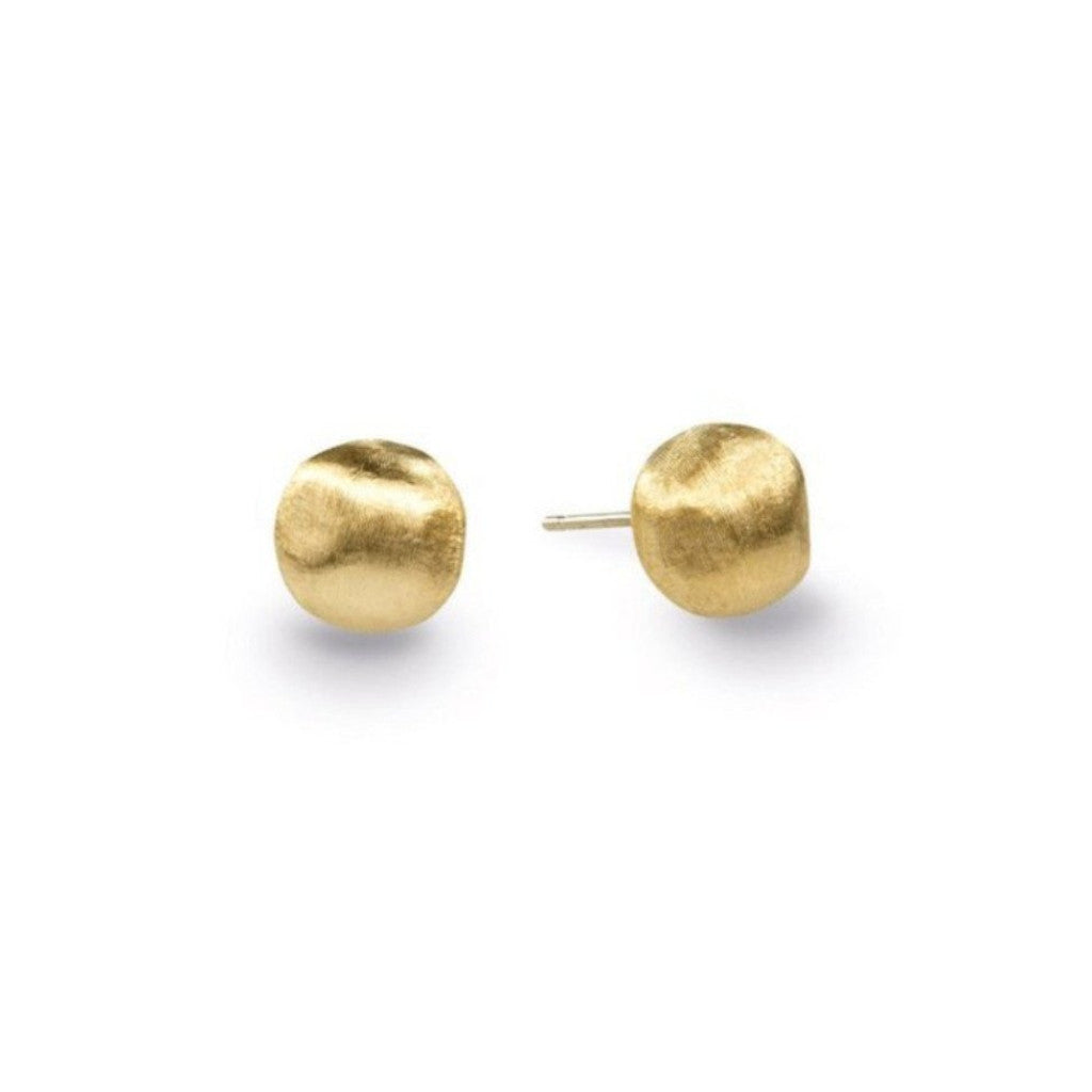 Africa Yellow Gold Stud Ball Earrings