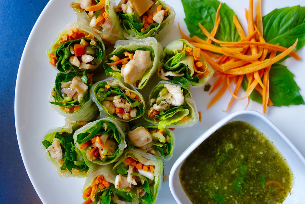 Chicken & Thai Basil Spring Rolls