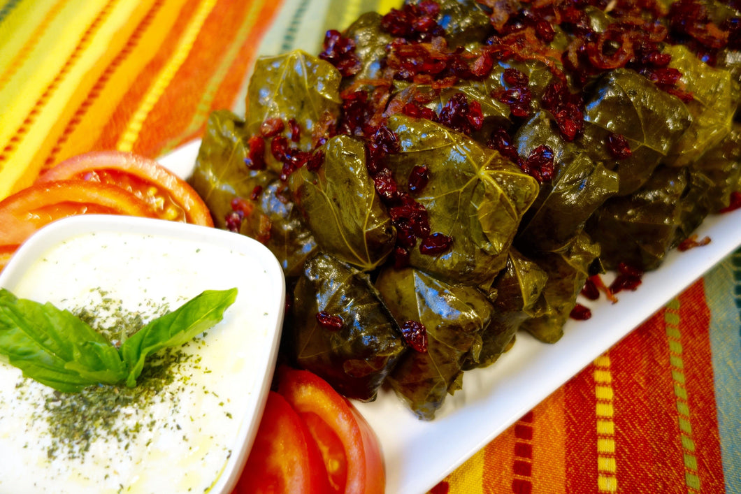 Dolmeh Bargeh Mo (Tabrizi-Style Stuffed Grape Leaves)