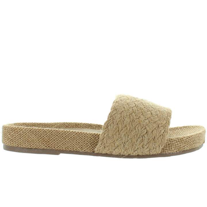 MIA Linara - Natural Jute Footbed Slide Sandal