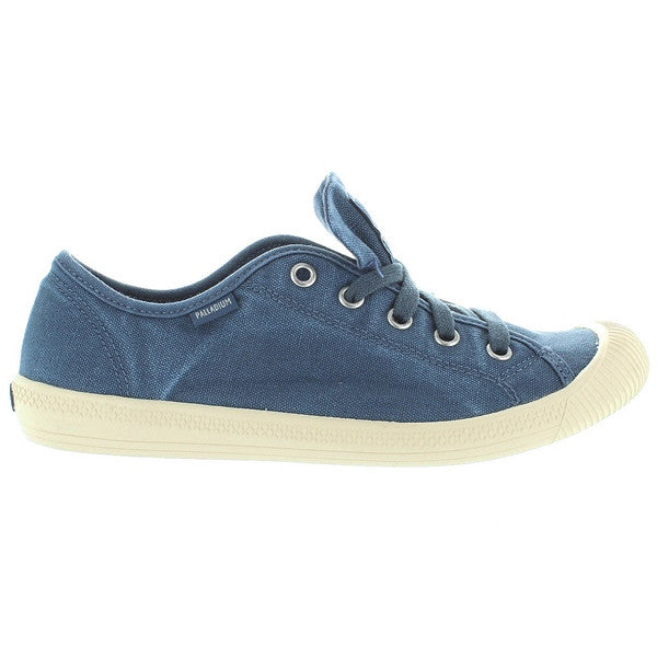 Palladium Flex Lace - Blue Putty/Angora Soft Lace-Up Canvas Sneaker
