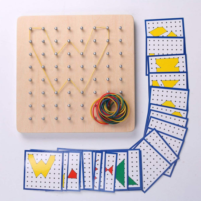 Montessori Wooden Geoboard Mathematical for Mrs Vitolo's Class