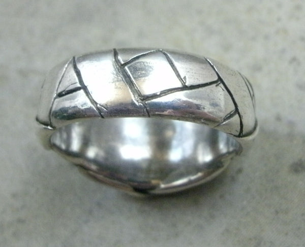 Mummy Ring in Fine Silver - PartsbyNC Industrial Jewelry