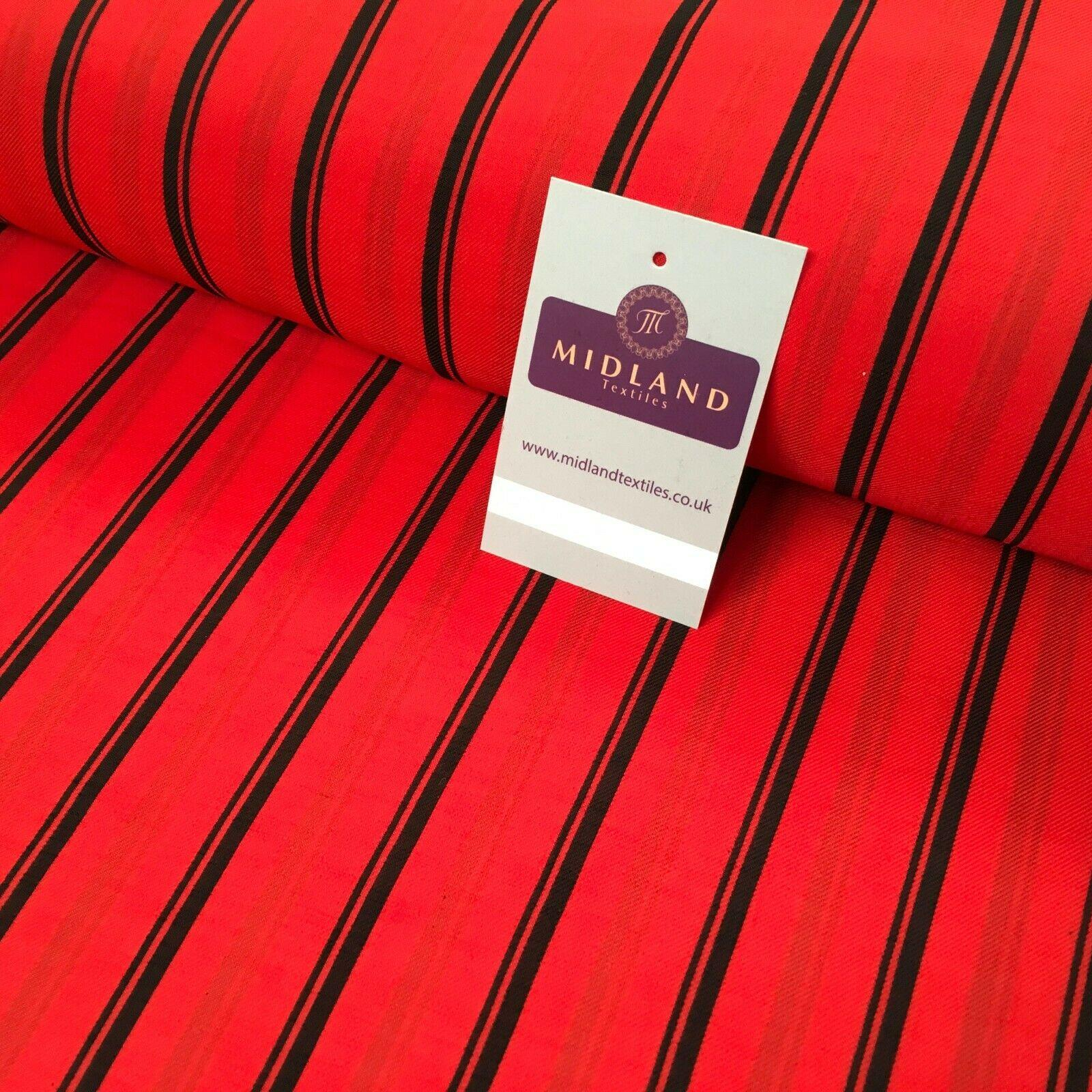 Red Stripped Georgette crepe Linen effect Fabric 150cm wide MK1095-7 Mtex