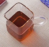 Contemporary Square Glass Fairness Pitcher with handle, 200ML