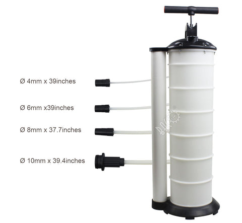 BACOENG Manual 7 Liter Oil Changer Vacuum Fluid Extractor Evacuator Pump for Automotive