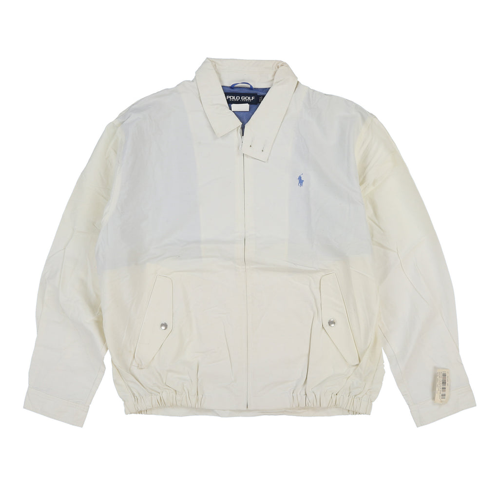POLO GOLF BI SWING JACKET // WHITE
