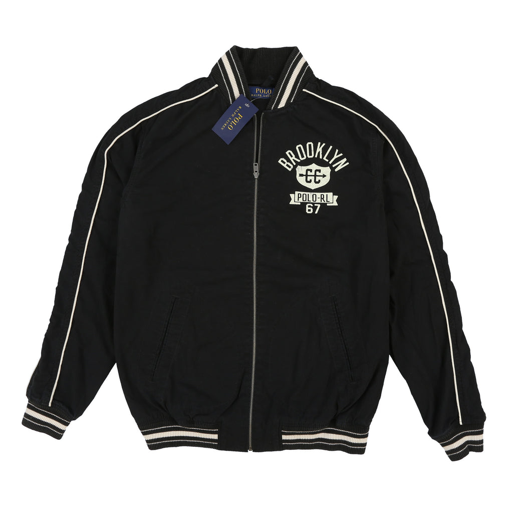 POLO BROOKLYN VARSITY JACKET // BLACK